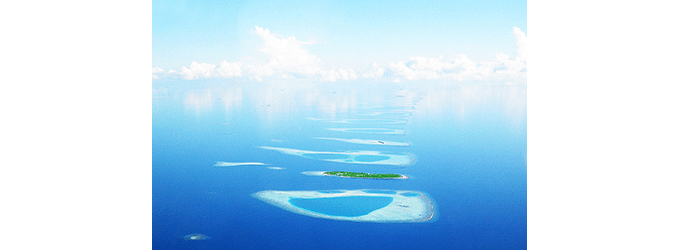 Islands in the Maldives from the Air